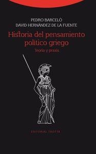 Historia del pensamiento político griego: portada