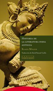 Historia de la literatura india antigua: portada