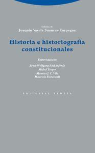 Historia e historiograf�a constitucionales: portada