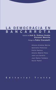 La democracia en bancarrota: portada