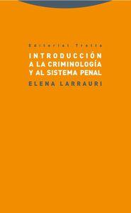 Introducción a la criminología y al sistema penal: portada