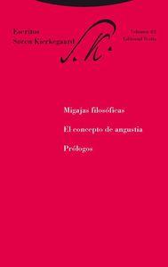 Migajas filosóficas, El concepto de angustia y Prólogos: portada