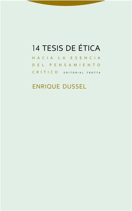 14 tesis de ética: portada