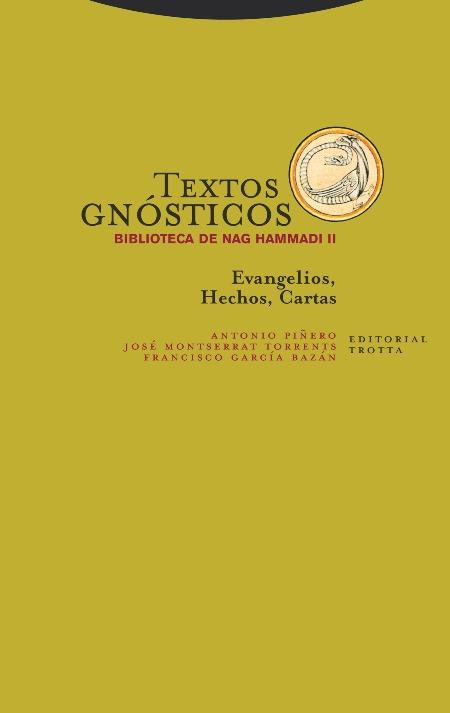 Textos gnósticos. Biblioteca de Nag Hammadi II: portada