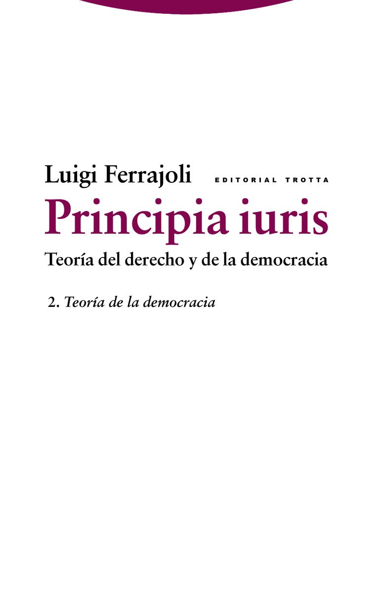 Principia iuris. Teoría del derecho y de la democracia: portada