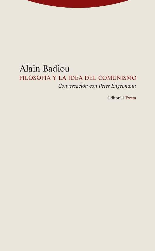 Filosofía y la idea de comunismo: portada