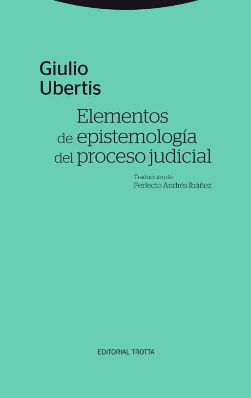 Elementos de epistemología del proceso judicial: portada