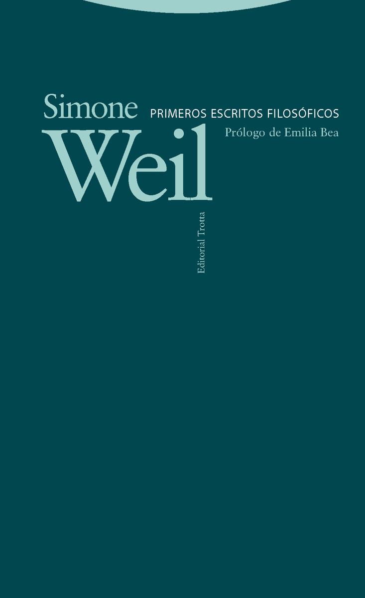 Primeros escritos filosóficos: portada