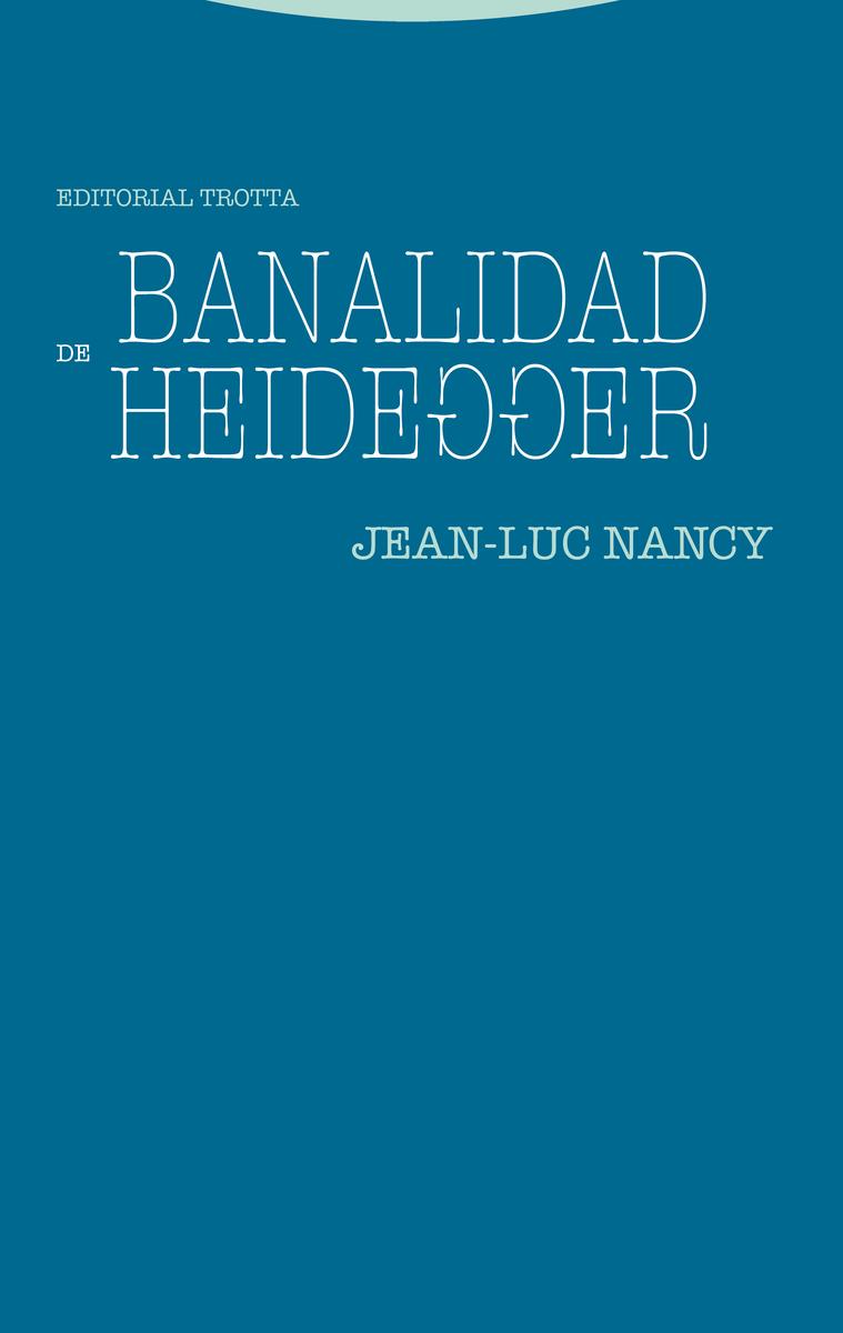 Banalidad de Heidegger: portada