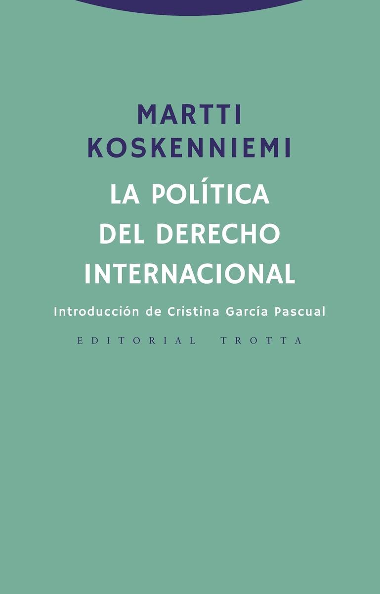 La política del derecho internacional: portada