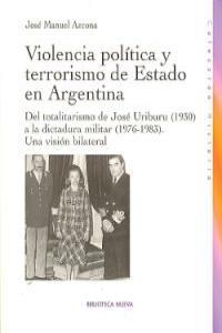 VIOLENCIA POLITICA Y TERRORISMO DE ESTADO EN ARGENTINA: portada
