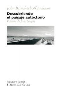 DESCUBRIENDO EL PAISAJE AUT�CTONO: portada
