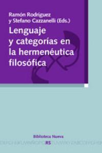 LENGUAJE Y CATEGORíAS EN LA HERMENéUTICA FILOSóFICA: portada