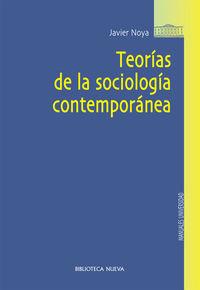 TEORíAS DE LA SOCIOLOGíA CONTEMPORáNEA: portada