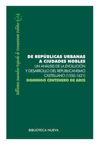 DE REPúBLICAS URBANAS A CIUDADES NOBLES: portada