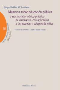MEMORIA SOBRE EDUCACIóN PúBLICA: portada