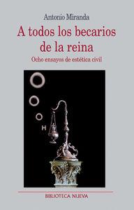 A TODOS LOS BECARIOS DE LA REINA: portada
