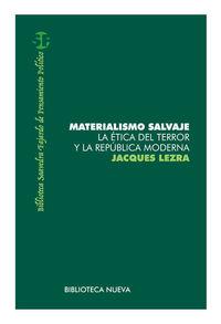 MATERIALISMO SALVAJE: portada