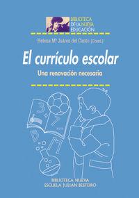 EL CURRíCULO ESCOLAR: portada