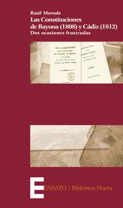 LAS CONSTITUCIONES DE BAYONA (1808) Y CáDIZ (1812): portada