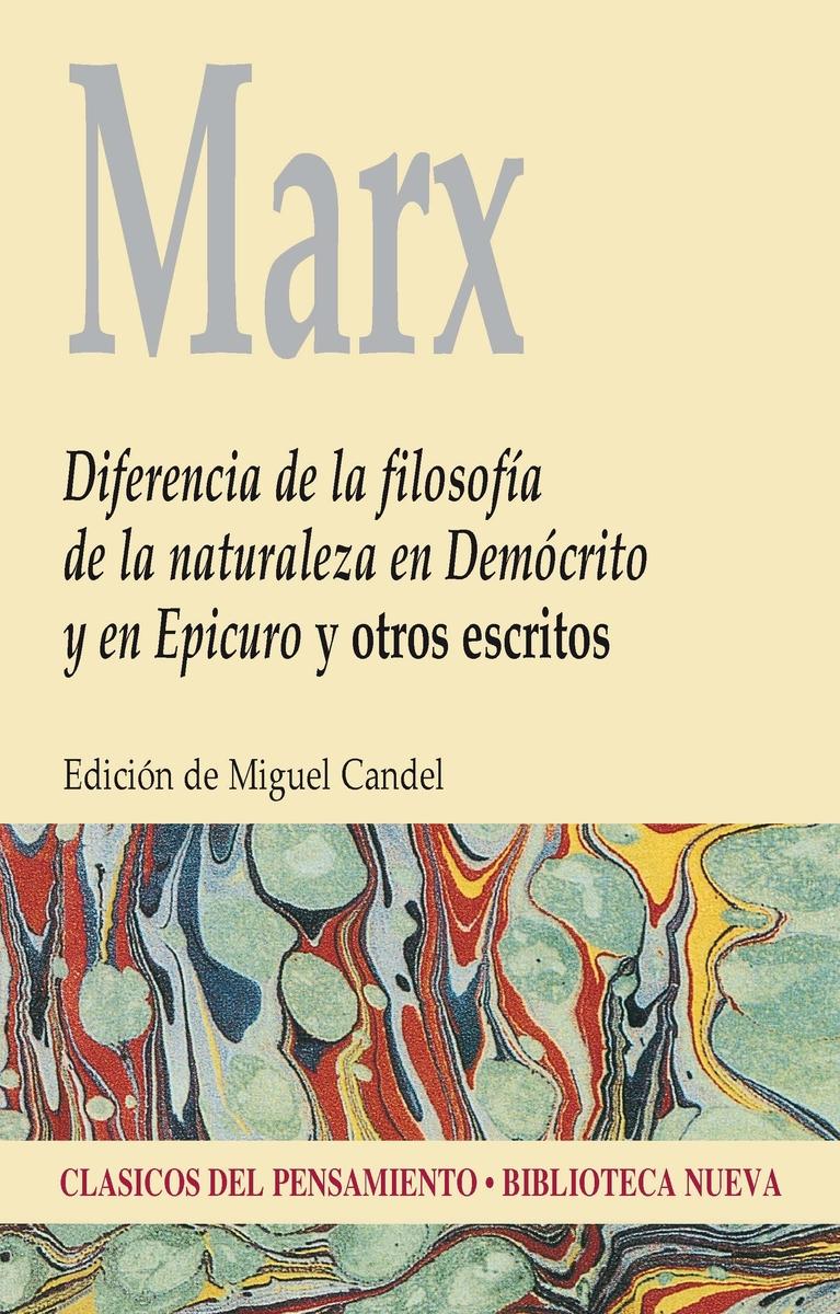 DIFERENCIA DE LA FILOSOFÍA DE LA NATURALEZA: portada