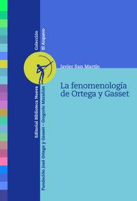 LA FENOMENOLOGíA DE ORTEGA Y GASSET: portada