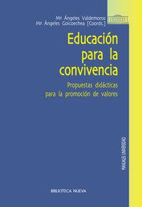 EDUCACIÓN PARA LA CONVIVENCIA: portada