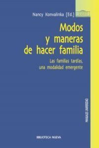 MODOS Y MANERAS DE HACER FAMILIA: portada