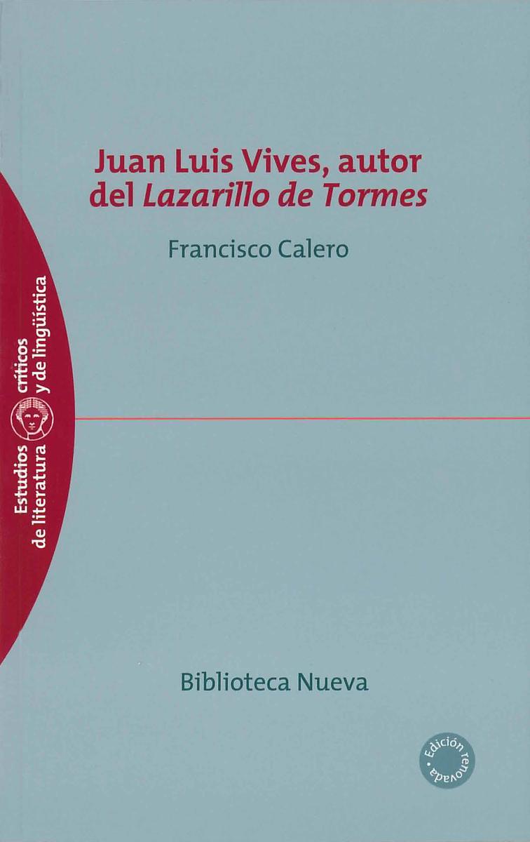 JUAN LUIS VIVES, AUTOR DEL LAZARILLO DE TORMES: portada