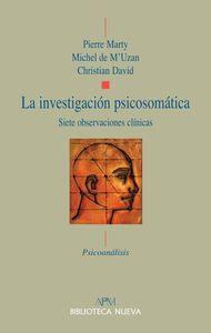LA INVESTIGACIóN PSICOSOMáTICA: portada