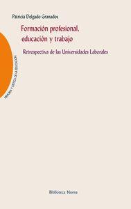 FORMACIóN PROFESIONAL, EDUCACIóN Y TRABAJO: portada