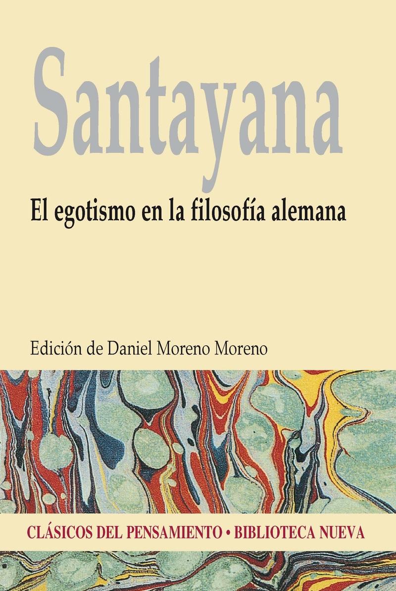EGOTISMO EN LA FILOSOFÍA ALEMANA, EL: portada