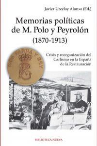 MEMORIAS POLITICAS DE  M. POLO PEYROLON (1870-1913): portada