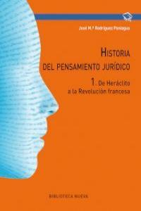 HISTORIA DEL PENSAMIENTO JURIDICO 1: portada