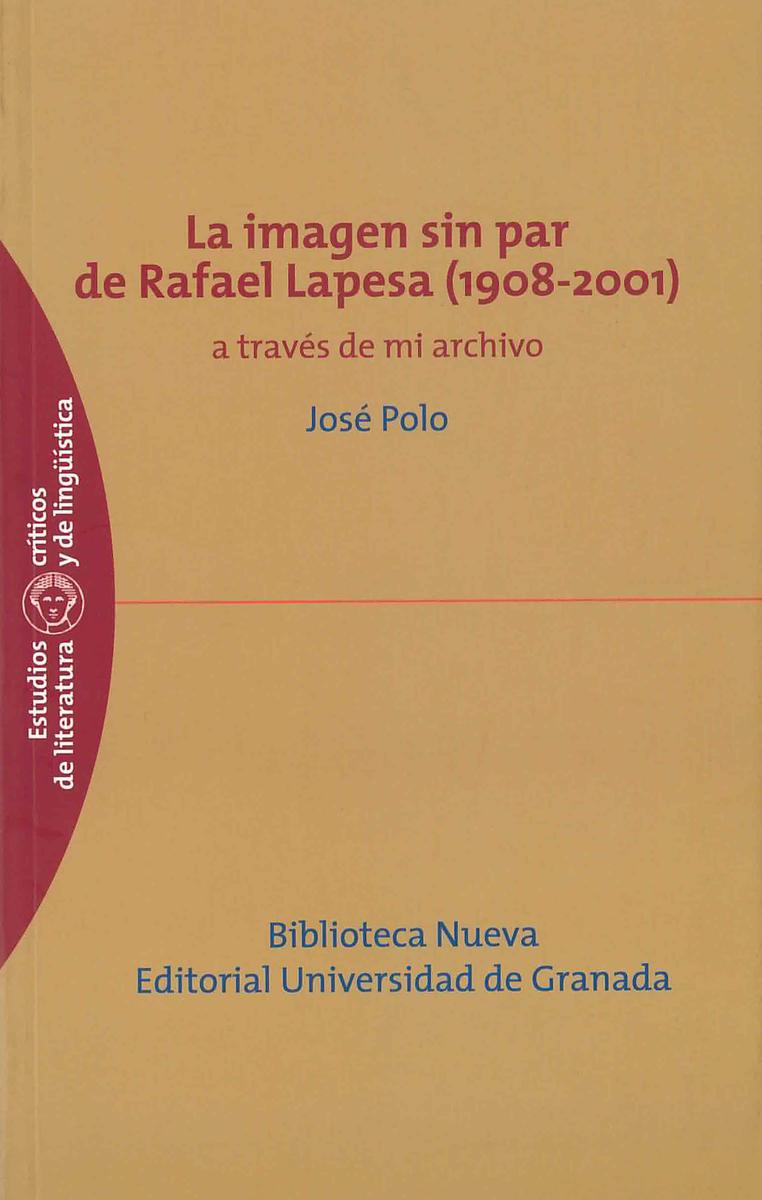 IMAGEN SIN PAR DE RAFAEL LAPESA (1908-2001), LA: portada