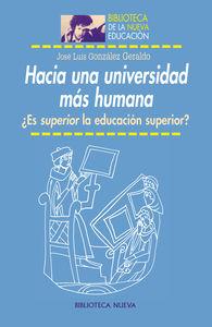HACIA UNA UNIVERSIDAD MÁS HUMANA: portada
