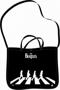 BOLSA THE BEATLES SHOPPER CON TRACCOLLA - NEGRO: portada