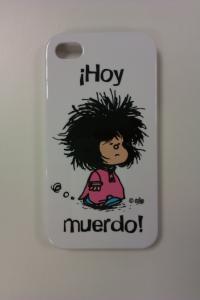 CARCASA IPHONE 4S - MAFALDA HOY MUERDO BLANCA: portada