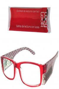 LUCY LOOK GAFAS ROJAS ROMBOS + 1.50: portada