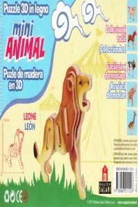 LEON MINI ANIMAL PUZLE DE MADERA EN 3D: portada