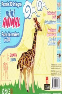 JIRAFA MINI ANIMAL PUZLE DE MADERA EN 3D: portada