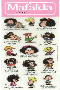 PACK STICKERS MAFALDA 1 - 6 COPIAS: portada