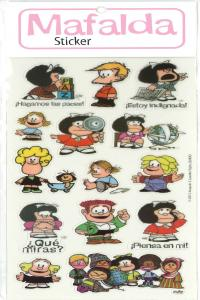 PACK STICKERS MAFALDA 2 - 6 COPIAS: portada