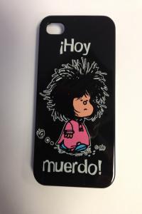 CARCASA IPHONE 4S - MAFALDA HOY MUERDO NEGRA: portada