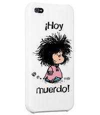 CARCASA IPHONE 5 - 5S MAFALDA HOY MUERDO BLANCO: portada