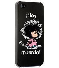 CARCASA IPHONE 5 - 5S MAFALDA HOY MUERDO NEGRA: portada
