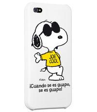 CARCASA IPHONE 5 - 5S SNOOPY CUANDO SE ES GUAPO SE ES GUAPO: portada