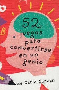BARAJA 52 JUEGOS PARA CONVERTIRSE EN UN GENIO: portada