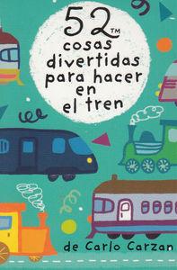 BARAJA 52 COSAS DIVERTIDAS PARA HACER EN EL TREN: portada