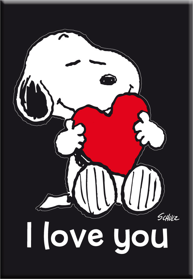 IMÁN SNOOPY I LOVE YOU: portada